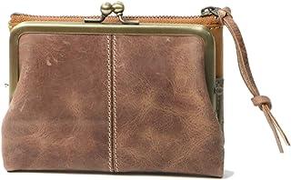 (アインソフ) 二つ折り財布 レディース 本革がま口 財布 ファスナーポケット