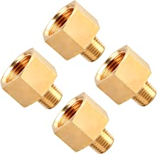 SUNGATOR 4-Pack Brass Pipe Fitting, Reducer Adapter, 1/4