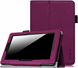 Fintie Folio Case for Fire HD 7 Tablet (2014 Oct Release) - Slim Fit Leather Standing Protective Cover with Auto Sleep/Wake Feature (Will only fit Fire HD 7 4th Generation 2014 Model), Purple