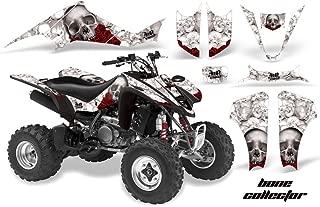 AMR Racing Graphics Kit for ATV Suzuki LTZ 400 2003-2008 BONE COLLECTOR WHITE