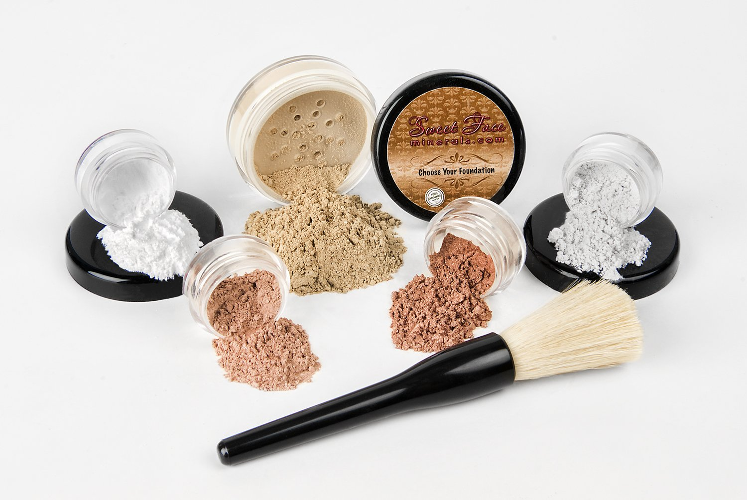 6pc STARTER KIT COCOA Mineral Makeup Sample Bare Size Set Face Max 77% OFF Minneapolis Mall