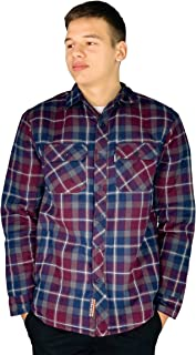 River Road Padded Quilted Fleece Lined Shirt Lumberjack Jacket Flannel Warm Work