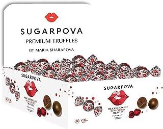 Sugarpova Milk Chocolate Rum Cherry Truffles 50 Individually Wrapped