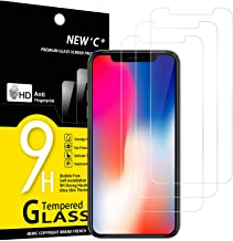 """NEW'C Lot de 3, Verre Trempé Compatible avec iPhone 11 Pro et iPhone X et iPhone XS (5.8""""), Film Protection écran sans Bulles d'air Ultra Résistant (0,33mm HD Ultra Transparent) Dureté 9H Glass"""