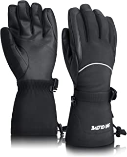 ThxToms -30°F Winter Warm Gloves 5 Fingers Touch Screen Waterproof Thermal Gloves Running Cycling Ski Sport Gloves for Mens Womens