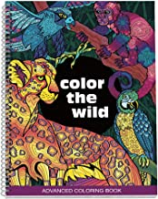 No Name Paper Co. Color The Wild Adult Coloring Book - 8.5 x 11 inches, Spiral Bound, Stress Relieving, Gift for Sister, M...