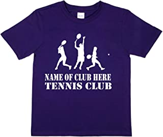 Print4u Personalised T-Shirt Name of Club Here Tennis