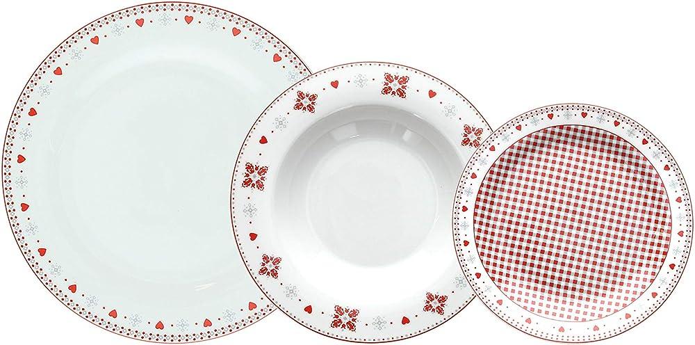 Tognana vichy , servizio da tavola 18 pezzi, in porcellana OM070185561