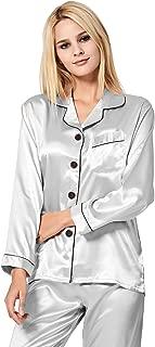 grey silk pajamas