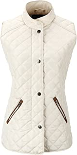 Women's Stand Collar Lightweight Gilet Quilted Puffer Padded Zip Vest Jacket for Spring Fall and Winter