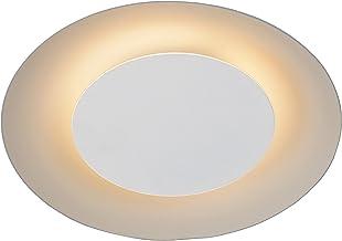 Lucide FOSKAL - Plafonnière - diametro 21,5 cm - LED - 1x6W 2700K - Wit, 21,5 x 21,5 x 5,2 cm