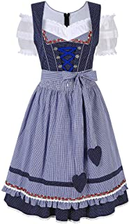 Oktoberfest Waitress Party Dress German Bavarian Beer Wench Carnival Halloween Costume Maid Outfit
