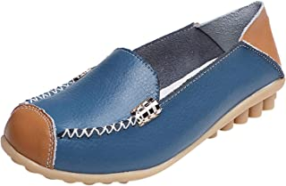 DAIFINEY Dames mocassin slipper loafers effen comfort schoenen slip-on modieuze vrijetijdsschoen