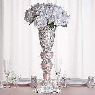"""Efavormart 20"""" Tall Curvy Trumpet Pilsner Glass Floral Vase - 4 Pcs"""