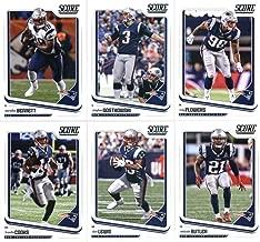 2018 Score New England Patriots Veteran Team Set of 11 Cards: Tom Brady(#206), Julian Edelman(#207), Rob Gronkowski(#208), Chris Hogan(#209), Dont'a Hightower(#210), Brandin Cooks(#211), Dion Lewis(#212), Malcolm Butler(#213), Martellus Bennett(#214), Stephen Gostkowski(#215), Trey Flowers(#216)