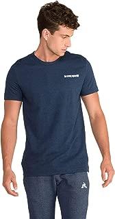 Le Coq Sportif Essential Saison Short Sleeves Effet Jean T-Shirt For Men, XL Navy (3606803288194)