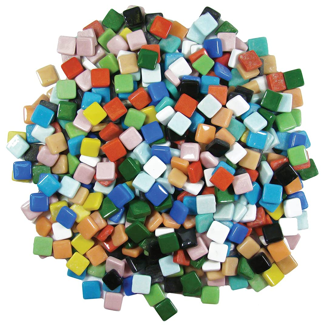 Jennifer's Mosaics 3/8-Inch Classico Mosaic Tiles Color Variety, Assorted Colors, 3-Pound