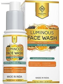 MOUNTAINOR Luminous Face Wash, 2% Kojic Acid + Vitamin C, Blackseed, Licorice & Aloe Vera. Helps Dark Spot Reduction, Pigm...