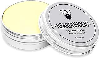 BEARDOHOLIC Beard Balm - Sweet Orange 100% Organic with Extra Hold for Styling and Shaping Your Beard with Ease Eliminates...
