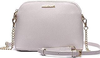 حقيبة كروس للنساء، خفيفة الوزن متوسطة قبة الكتف حقائب يد جلد نباتي حقيبة عملية متعددة الجيوب