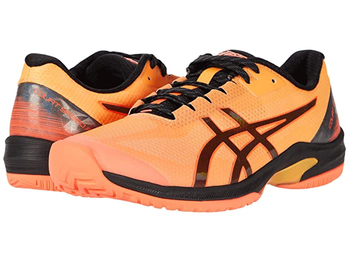 ASICS  Court Speed FF (Flash Coral/Black) Mens Tennis Shoes