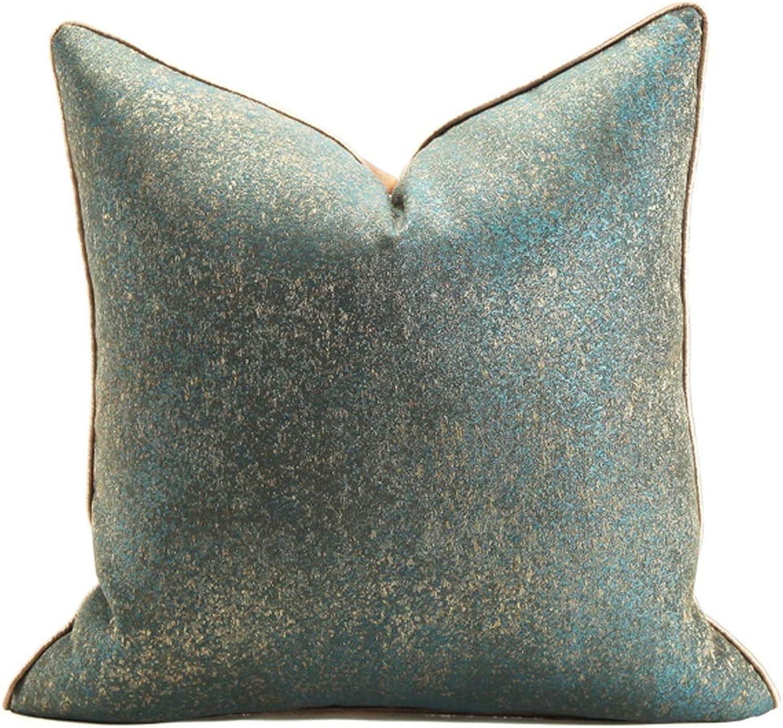 Pillow Model Room Soft Cushions Square Pillow Removable and Washable Home Decoration Backrest QYSZYG (Size   45cm45cm)