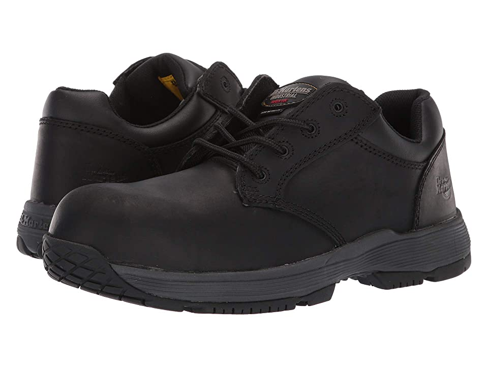 Dr. Martens Linnet SD Non-Metallic Steel Toe 4-Eye Shoe (Black Connection) Lace up casual Shoes