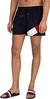 Tommy Hilfiger Men's Short Drawstring Regular Swim Shorts, Blue, M
