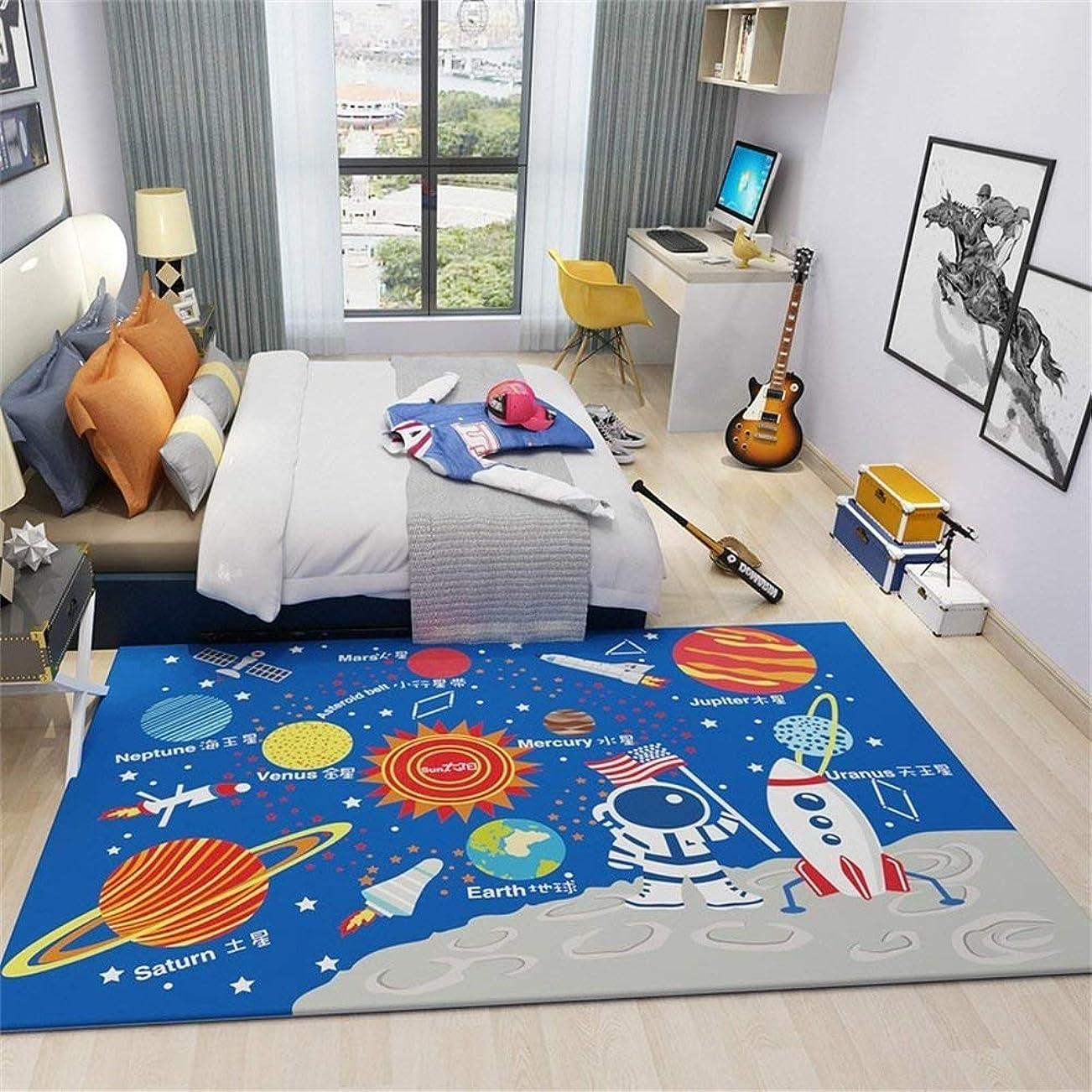 急流水陸両用いちゃつく現代の敷物、リビングルームと寝室のコンピュータチェアかわいい本の家の長方形のカーペットブルー(サイズ:140×200センチメートル)のための漫画の子供部屋の敷物 AI LI WEI (サイズ さいず : 120×160cm)