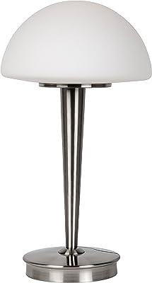 Lucide TOUCH - Lampe De Table - Ø 23 cm - Chrome Dépoli