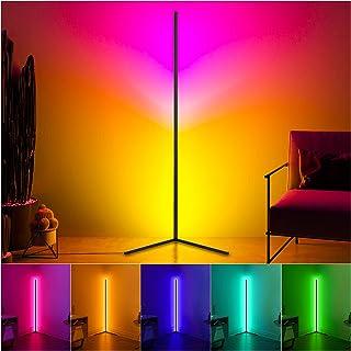Lampadaire LED 20W Dimmable RGB Lampadaire 2800LM LED Pied D'angle Lampe avec Tlcommande pour Salon Chambre Coucher Noir R...