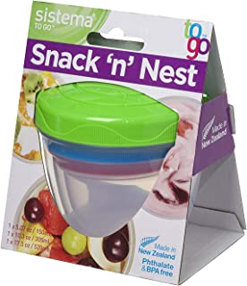 Sistema Snack N Nest 3 Pack TO GO Colors May Vary