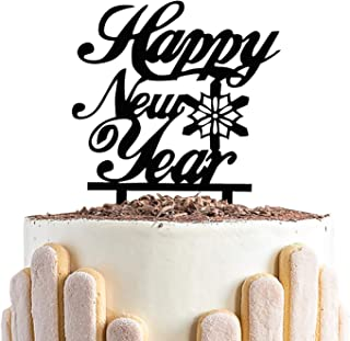 Happy New Year Cake Topper,Cheers to 2020,Merry Christmas Cake Decor,Ceremony 2020 New Year Eve Party Decorations
