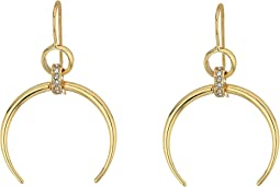 LAUREN Ralph Lauren - Gold and Pave Horn Drop Earrings