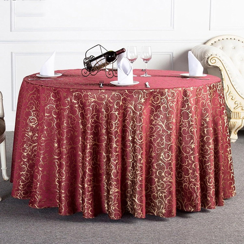 precios bajos Mantel Hermosa Hermosa Hermosa rojoondo del Hotel rojoondo del Hotel rojoondo de la Boda Simple (3 Colors Opcionales) (tamao Opcional) Durable (Color   C, Tamao   ROUND320cm)  bienvenido a comprar