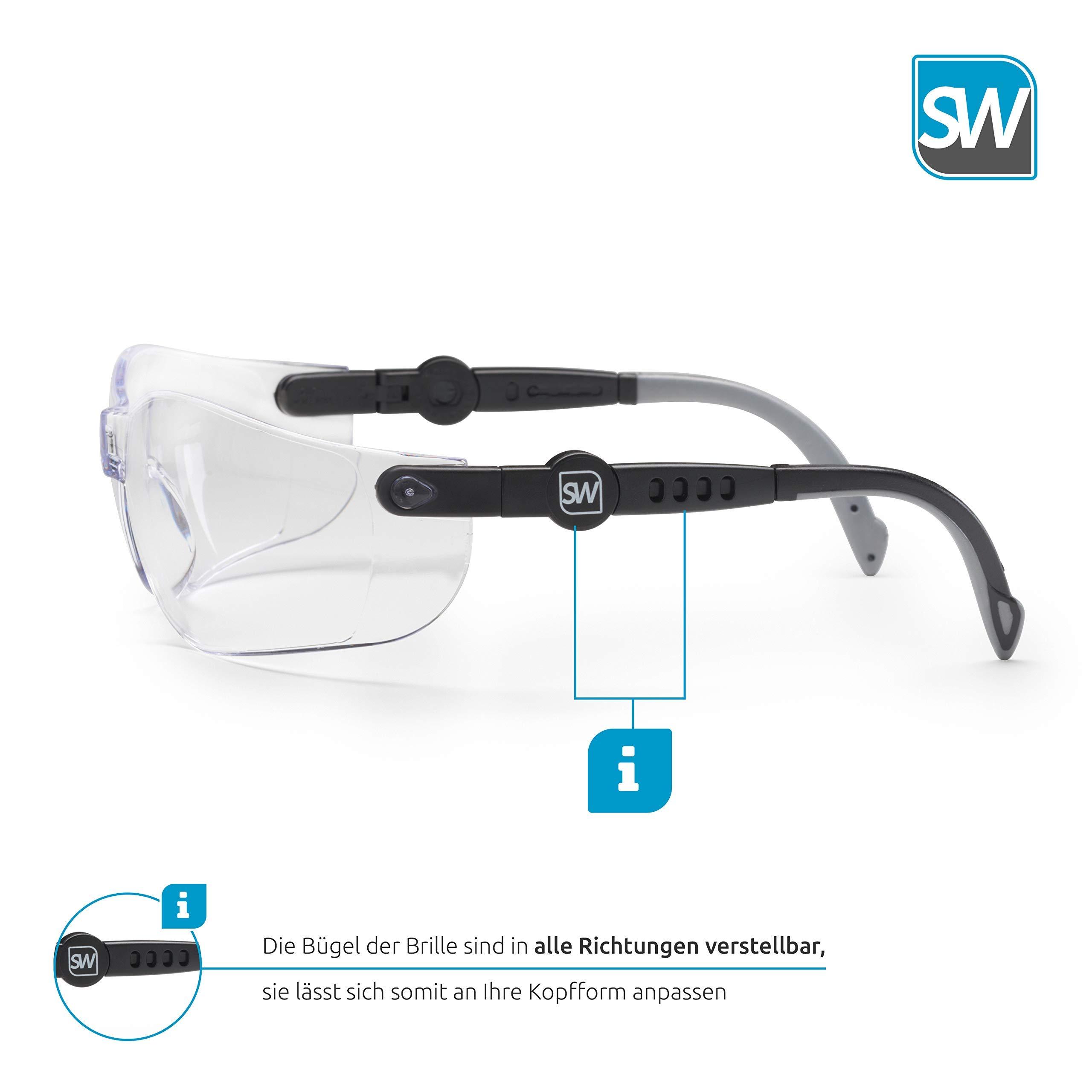 Gafas de seguridad SolidWork con protecci/ón lateral integrada sin niebla resistentes a los ara/ñazos y con lentes recubiertas con protecci/ón UV