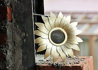 SATYAM KRAFT Fiber Wall Mirror (24.5 × 24.5 cm, Gold)