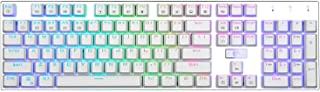 E-YOOSO Z-88 Mechanical Gaming Keyboard, Programmable RGB Backlit, 104 Keys Anti-Ghosting Keyboard for Mac PC Computer (Br...