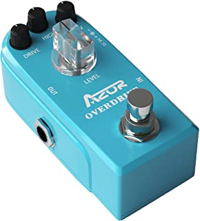 AZOR Classical Overdrive Guitar Effect Pedal with True Bypass Blue AP-308