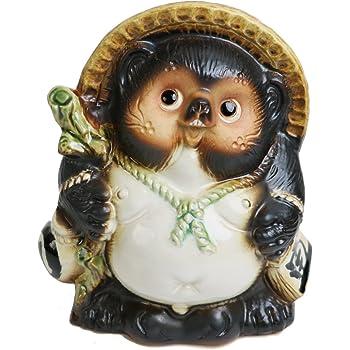 信楽焼【5号福々オス狸 ta-0070】 しがらきハンカチパッケージ 信楽焼き 陶器 しがらきやき たぬき タヌキ 置物 置き物 おきもの 縁起物 進物 ギフト