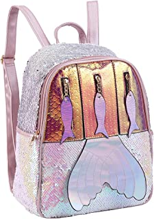 Mermaid Flip Sequin Backpack for Girls Cute Glitter Sparkly02
