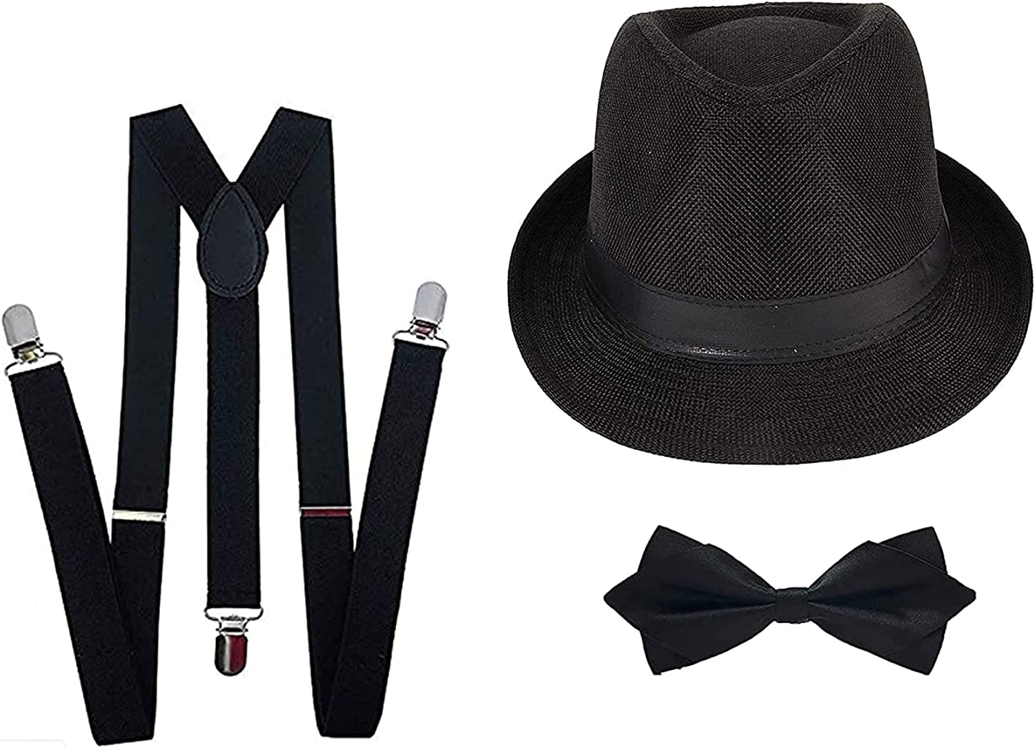 Kalagiri Suspender And Bow Tie Set For Men With Matching Cap