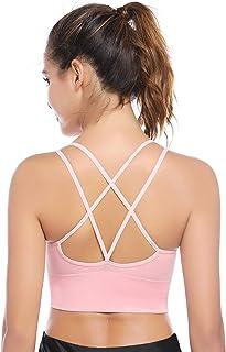 Sujetador Deportivo Mujer Push Up (1/2/3pack) con Almohadillas Extraíbles,Bra Deporte sin Costuras para Yoga/Fitness/Run/Ejercicio/USA de Diaria