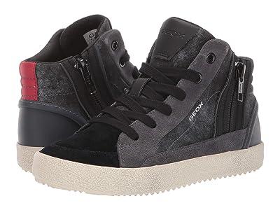 Geox Kids Jr Alonisso 39 (Little Kid/Big Kid) (Black/Dark Grey) Boys Shoes