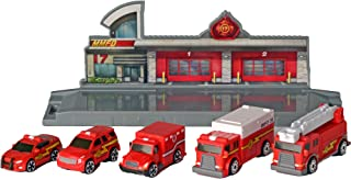 Micro Machines World Packs, Fire & Rescue - Features 5 Highly Detailed Vehicles: Ladder and Heavy Duty Trucks, Ambulance, ...