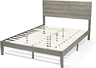 Christopher Knight Home Apollo Queen Size Bed with Headboard, Natural and Gray Finish