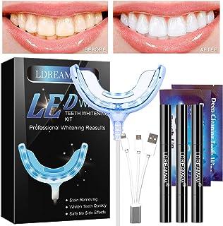 Blanqueamiento Dental,Kit de Blanqueamiento Dental Gel Blanqueador de Dientes,Teeth Whitening Kit,Contra Dientes Amarillos,Manchas de Humo,Dientes Negros
