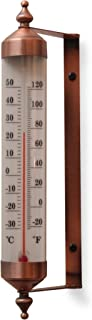 Bjerg Instruments Antique Copper Finish Adjustable Angle 10 Inch Garden Thermometer