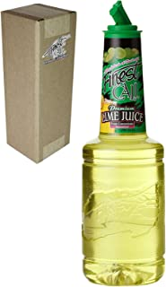Finest Call Premium Lime Juice Drink Mix, 1 Liter Bottle (33.8 Fl Oz), Individually Boxed