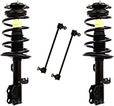 Detroit Axle - 4PC Front Ready Strut and Coil Spring Assemblies w/Stabilizer Sway Bar Links for 2009-2010 Pontiac Vibe FWD - [2009-2013 Toyota Corolla 1.8L] - 2009-2013 Toyota Matrix FWD